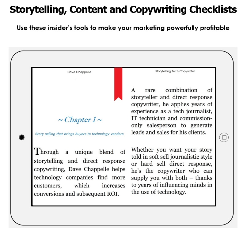 Dave Chappelle's Storytelling, Content, and Copywriting Checklists; 3 checklists in 1