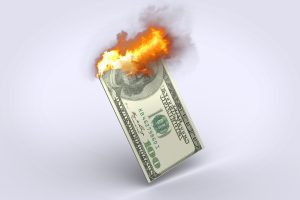 Burning money on trade shows (not exactly as shown)